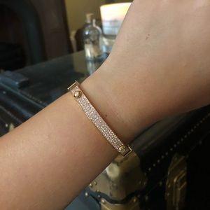 MICHAEL KORS- rose gold & crystal pave bracelet